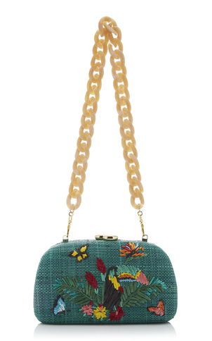 Serpui Mia Toucan Embroidered Minaudiere Bags
