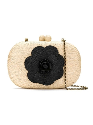 Serpui Olive Camelia Black with White Bags