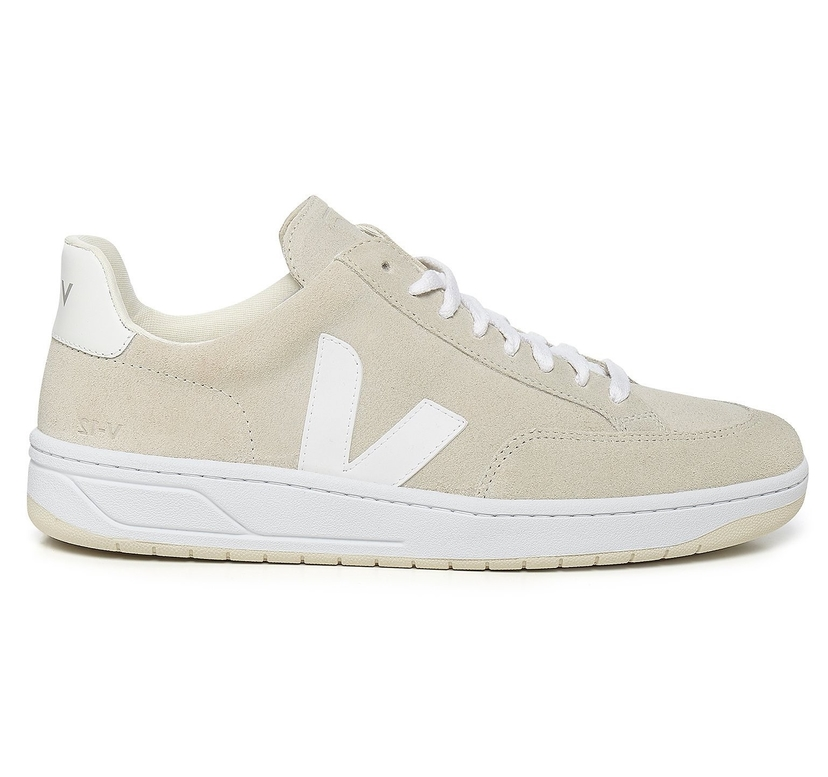 Veja V-12 Suede Natural White Shoes