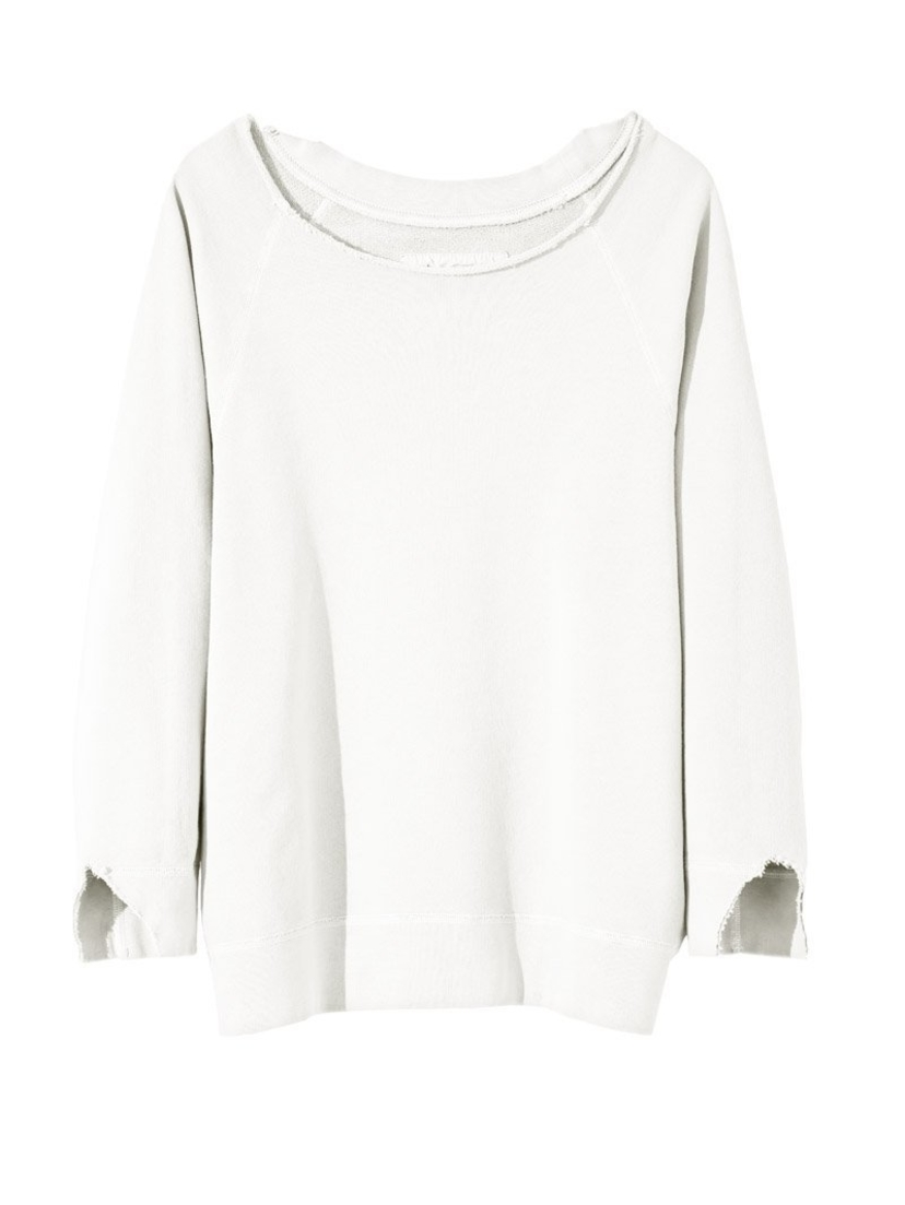 Nili Lotan Luka Scoop Neck Sweatshirt Tops