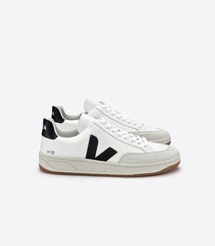 Veja V-12 B Mesh - Black/White Shoes