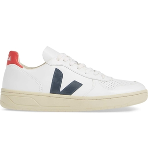 Veja V-10 - White/Blue/Red Shoes