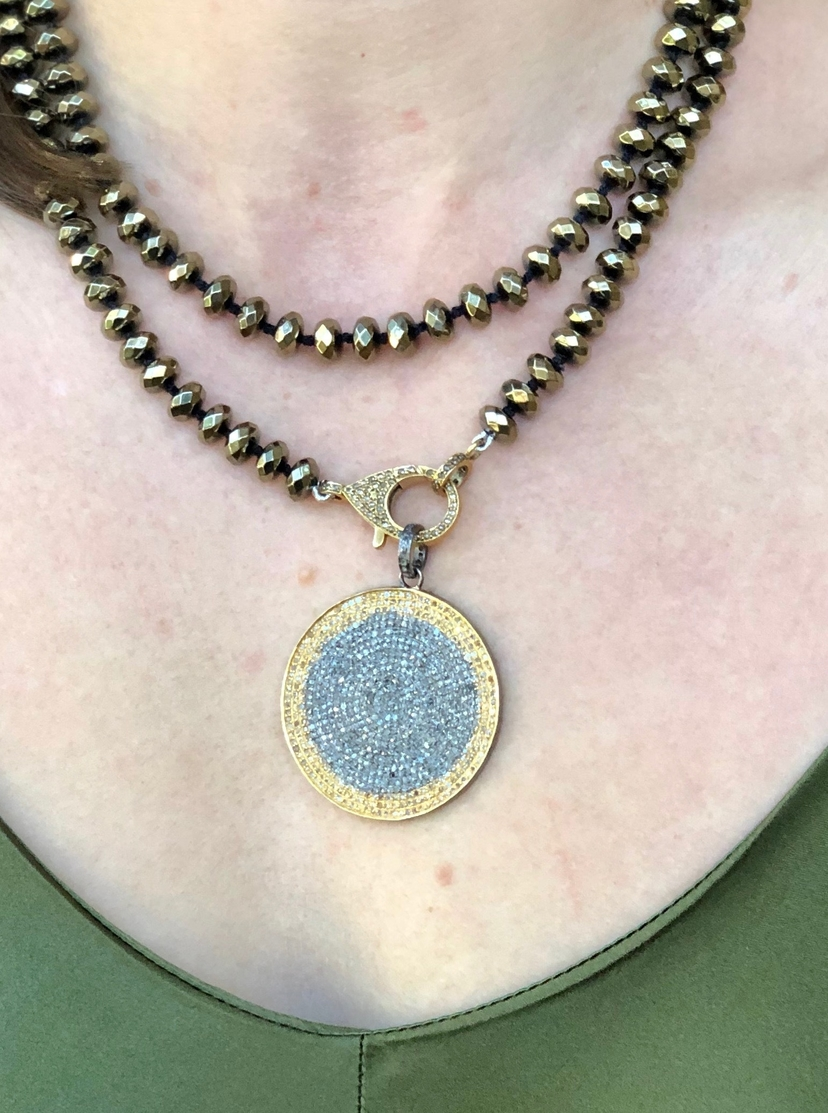 The Woods Fine Jewelry Pyrite Beaded Necklace Jewelry