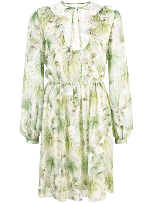 Giambattista Valli Palm Print Dress Dresses