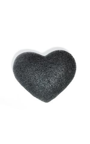 One Love Organics Bamboo Charcoal Heart Cleansing Sponge Health & beauty