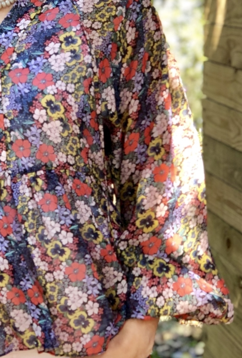Silvano Floral Print Blouse Tops