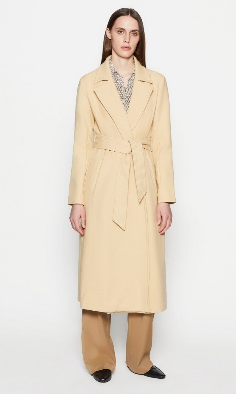 Equipment ALYSSANDRA TRENCH in BISCUIT Outerwear