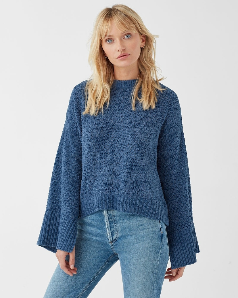 Splendid Splendid Bowie Sweater in Dusty Blue Tops