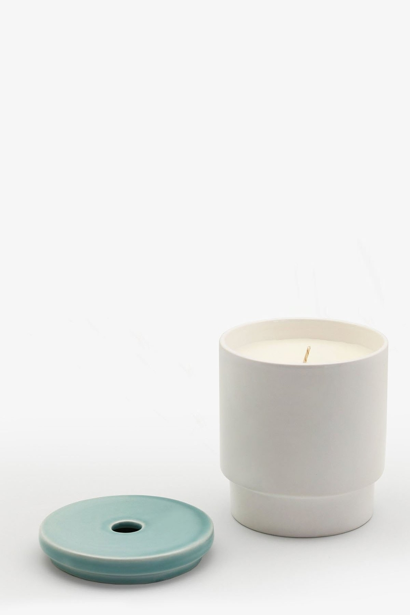 Night Space Pale Blue Candle Home decor