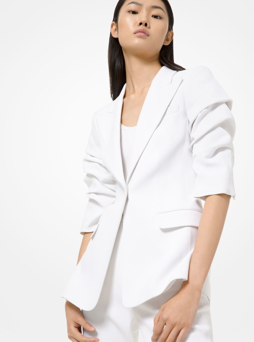Michael Kors Collection Crushed Sleeve Blazer Outerwear