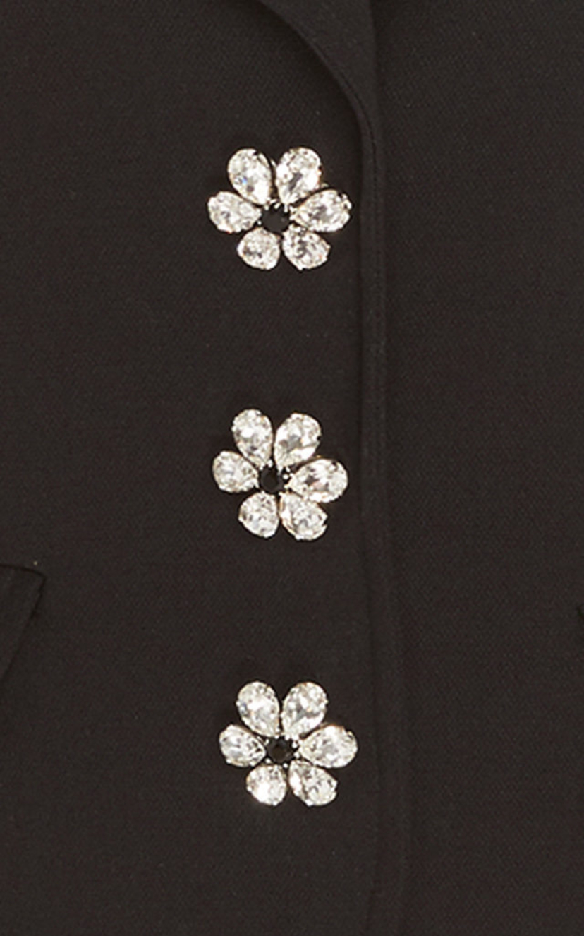 Michael Kors Collection Jeweled-Button Cropped Peacoat Outerwear