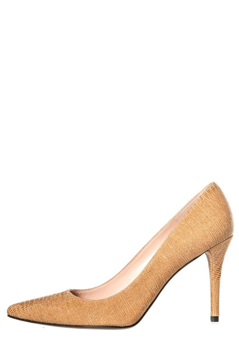 Stuart Weitzman Stuart Weitzman Tan Embossed Pumps SZ 8.5 Shoes