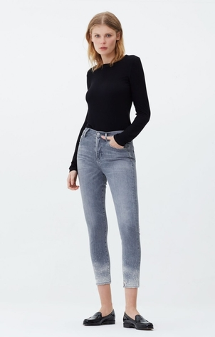 Citizens of Humanity Rocket Crop High Rise Skinny in Salt Stone Pants