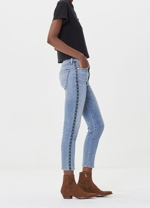 Citizens of Humanity Rocket Crop High Rise Skinny in Mateo Stripe Pants