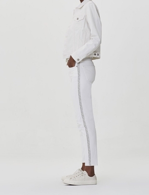 Citizens of Humanity Harlow Ankle High Rise Slim in Gardenia Stripe Pants