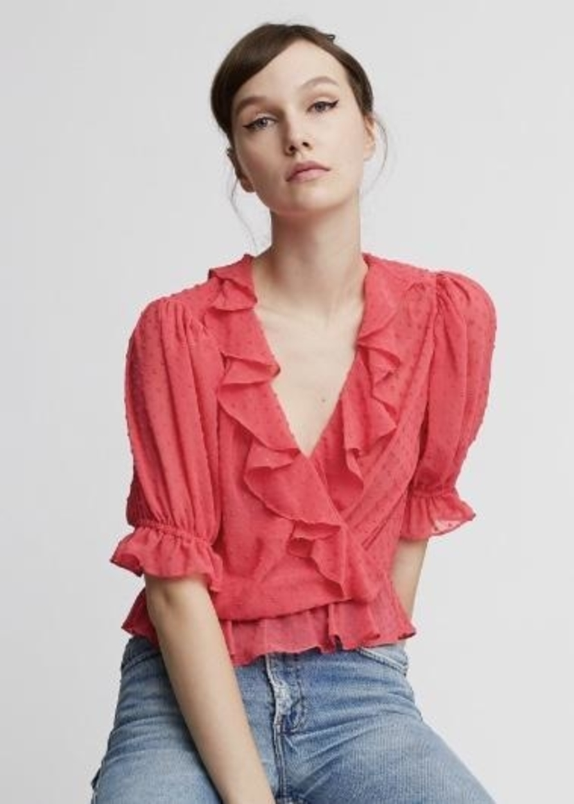 ICONS Icons The Cha Cha Blouse Deep Pink Tops