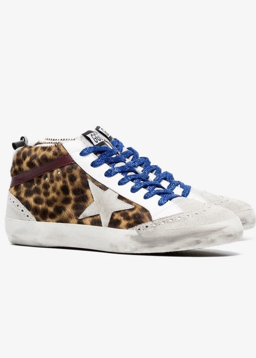 Golden Goose Deluxe Brand Golden Goose Mid Star Spotted Horse Shoes
