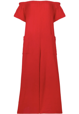 Mara Hoffman Blanche Jumpsuit in Red