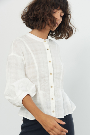 Mara Hoffman Meadow Blouse in White Tops