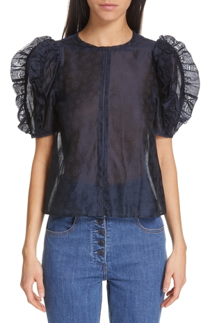 Ulla Johnson Aria Top - Midnight Tops