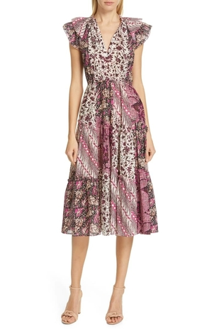 Ulla Johnson Asis Mixed Print Dress Dresses
