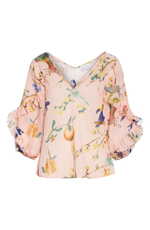 Tanya Taylor Margarita Top - Jungle Pink Tops