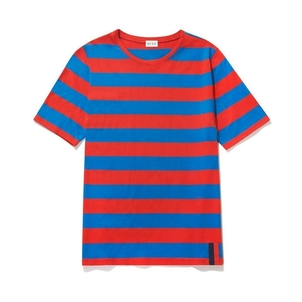 Kule The Modern Tee - Royal/Poppy Tops