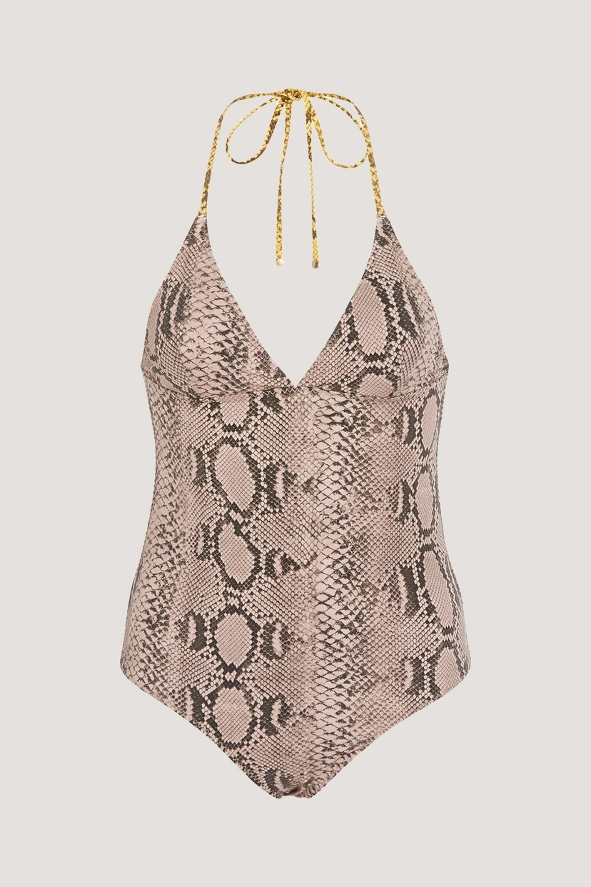 Stella McCartney Timeless Snakeskin One-Piece Swimwear
