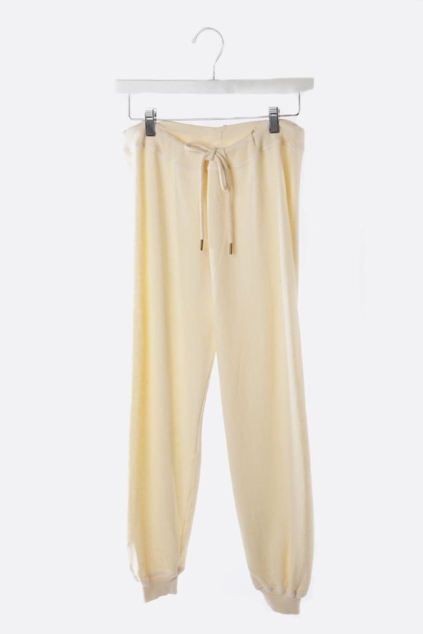 The Great. Washed White Cropped Sweatpant Pants