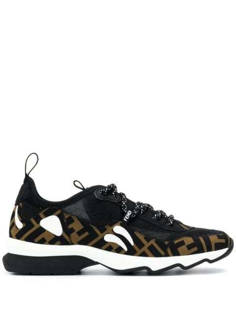 Fendi Fendi - Patch Lycra FF Logo Sneakers Shoes