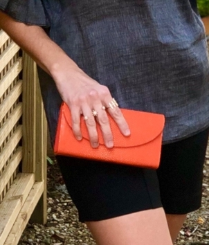 Convertible Stingray Clutch - Orange Bags