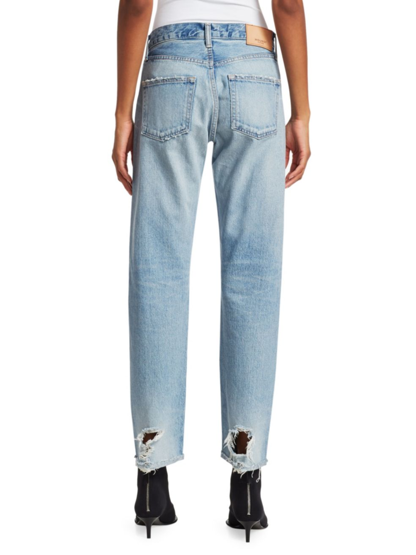 Moussy Steele High-Rise Straight Jeans Pants