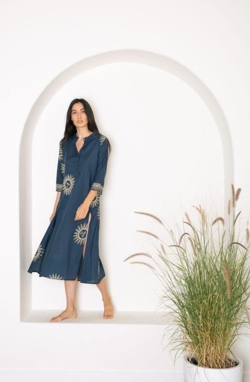 Natalie Martin Isobel Dress Indigo Sun Dresses Sale