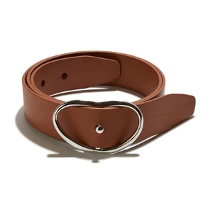 Lizzie Fortunato Wide Georgia Belt in Tan + Silver Accessories