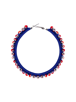 My Beachy Side Hoop Earring Blue Jewelry