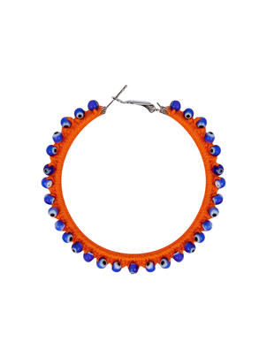 My Beachy Side Hoop Earring Orange Jewelry
