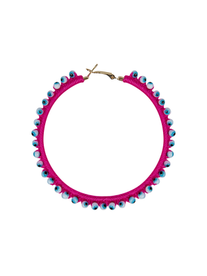 My Beachy Side Hoop Earring Pink Jewelry