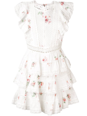 Zimmermann Heaters Pintuck Frill Dress Dresses