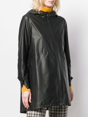 Herno Hooded Zip-Up Coat Outerwear