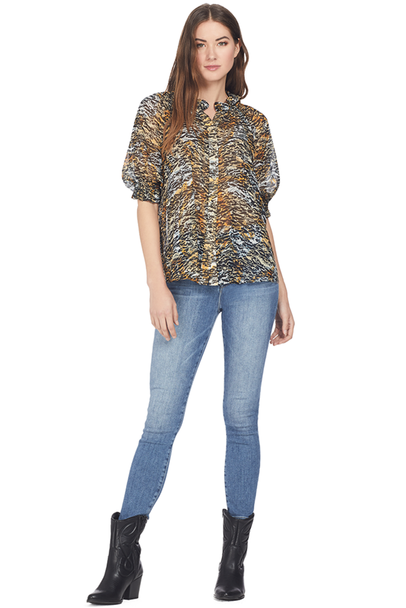 Saloni Skye Top (Ink Tiger) Tops