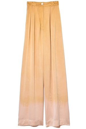 Raquel Allegra Keaton Soft Trouser in Golden Sun Tie Dye Dresses Pants