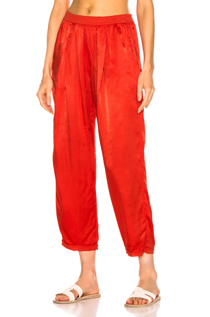 Raquel Allegra Satin Sweatpant Dresses Pants