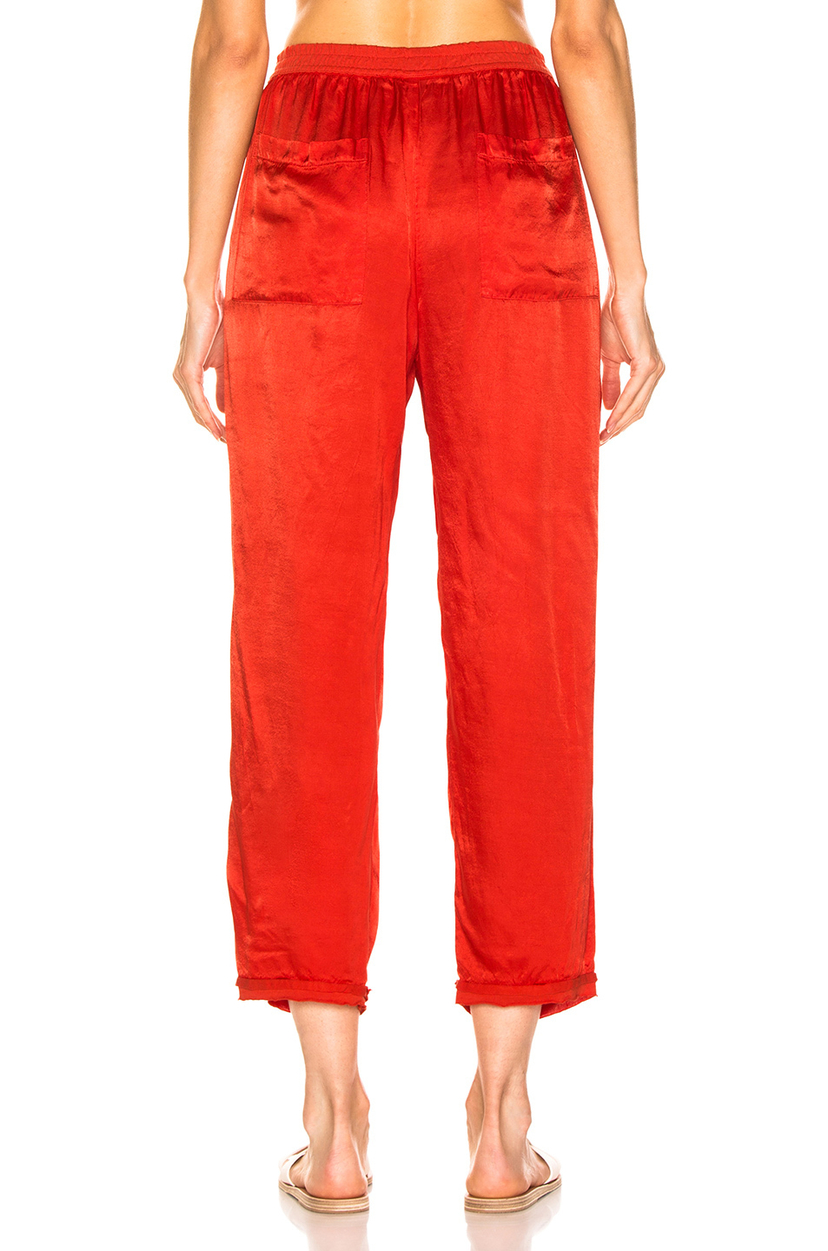 Raquel Allegra Satin Sweatpant Pants
