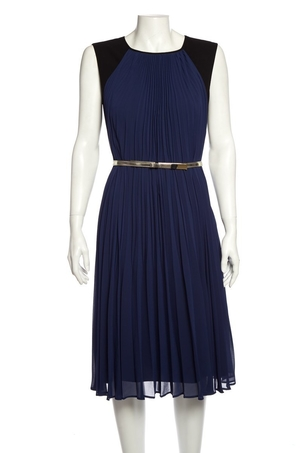 Escada Escada Blue & Black Pleated Dress SZ 36 Dresses