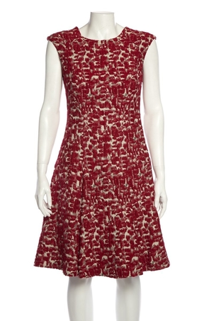Carolina Herrera Carolina Herrera Red Dress SZ 6 Dresses Sale