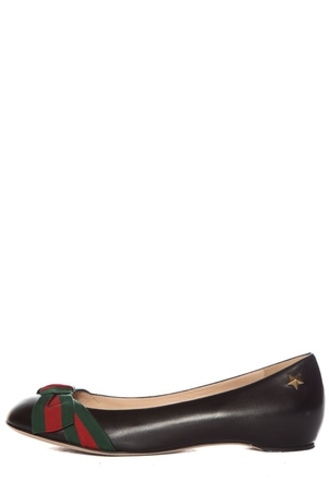Gucci Gucci Black Leather Flats SZ 39 Shoes