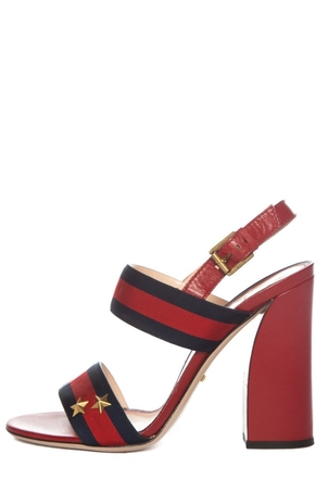 Gucci Gucci Red & Blue Leather Sandals SZ 40 Shoes