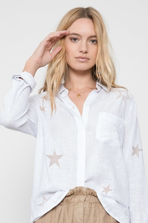 Rails Charli Top With Star Embroidery Tops