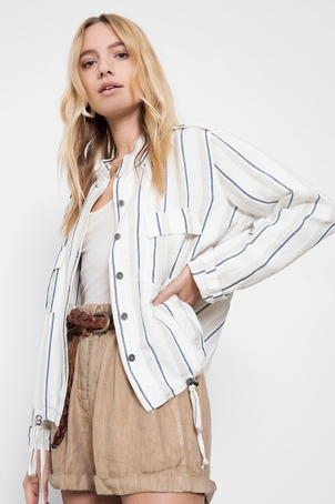 Rails Rowen Jacket in Coco Stripe Tops