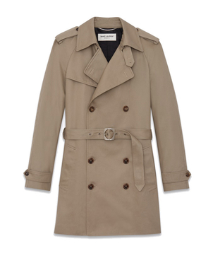 Saint Laurent WESTERN STYLE TRENCH COAT Men's